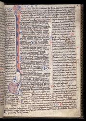 Gospel of Mark belonging to Bishop Puiset; (